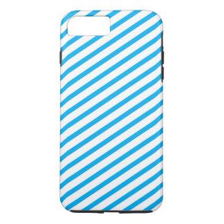 Diagonales Streifen-Blau-Muster iPhone 8 Plus/7 Plus Hülle