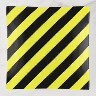 Diagonales Streifen-Gelb und Schwarzes Dekoschale