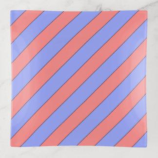Diagonales Streifen-Rosa und lila Dekoschale