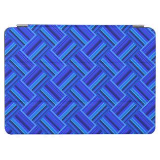 Diagonales Webartmuster der blauen Streifen iPad Air Hülle