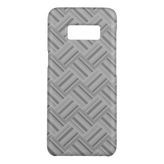 Diagonales Webartmuster der grauen Streifen Case-Mate Samsung Galaxy S8 Hülle
