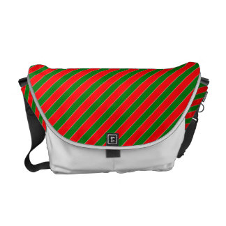 Diagonales Zuckerstange Streifen-Weihnachten rot Kurier Taschen