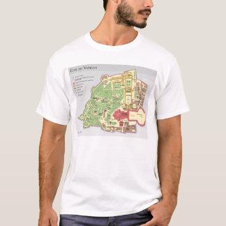 Diagramm Carte du Cité DU Vatikan T-Shirt