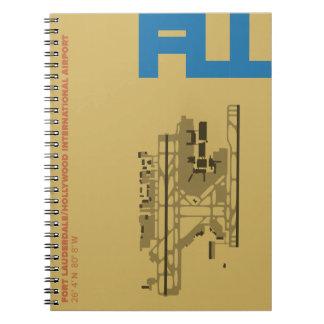 Diagramm-Notizbuch Fort- Lauderdaleflughafen-(FLL) Spiral Notizblock