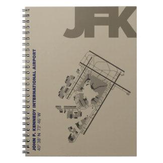 Diagramm-Notizbuch John F. Kennedy-Flughafen-(JFK) Spiral Notizblock
