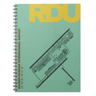 Diagramm-Notizbuch Raleigh-Durham Flughafen-(RDU) Spiral Notizblock