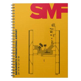 Diagramm-Notizbuch Sacramento-Flughafen-(SMF) Spiral Notizblock