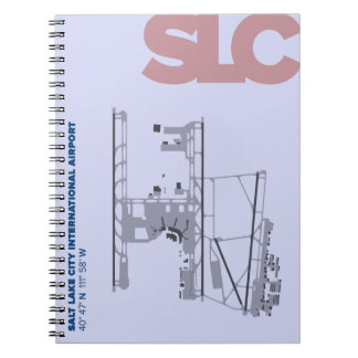 Diagramm-Notizbuch Salt Lake City-Flughafen-(SLC) Notizblock