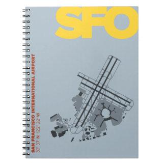 Diagramm-Notizbuch San Francisco Flughafen-(SFO) Spiral Notizblock
