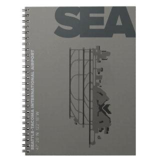 Diagramm-Notizbuch Seattle-Flughafen-(MEER) Spiral Notizblock