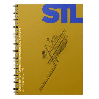 Diagramm-Notizbuch St.- Louisflughafen-(STL) Spiral Notizblock