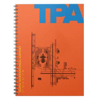 Diagramm-Notizbuch Tampa-Flughafen-(TPA) Spiral Notizblock