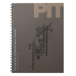 Diagramm Pittsburgh-Flughafen-(GRUBE) Notizblock