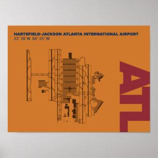 Diagramm-Plakat Atlanta-Flughafen-(ATL) Poster