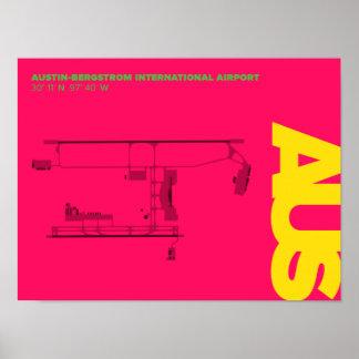 Diagramm-Plakat Austin-Flughafen-(AUS) Poster