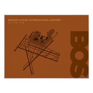 Diagramm-Plakat Boston-Flughafen-(BOS) Poster