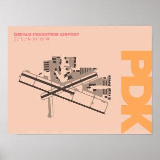 Diagramm-Plakat DeKalb-Peachtree Flughafen-(PDK) Poster