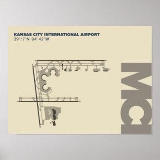 Diagramm-Plakat Kansas- Cityflughafen-(MCI) Poster
