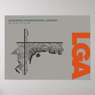 Diagramm-Plakat LaGuardia-Flughafen-(LGA) Poster