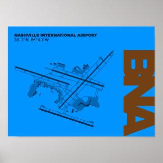 Diagramm-Plakat Nashville-Flughafen-(BNA) Poster