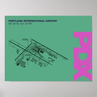 Diagramm Portland-Flughafen-(PDX) Poster