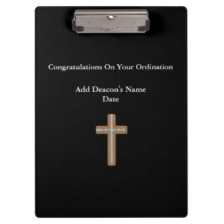 Diakon ordiniertes Klassifikations-Geschenk Gedenk Klemmbrett