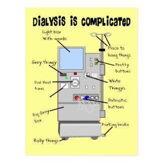 Dialysekrankenschwester/Technologie-lustige Postkarte