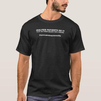 Dialysepatienten tun es Ebene auf ihren Rückseiten T-Shirt