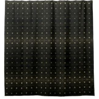 Diamant-Bolzen-Schwarzes Duschvorhang
