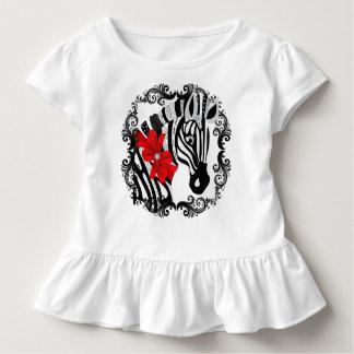 Diamant Delilah Zebra (rot) Kleinkind T-shirt