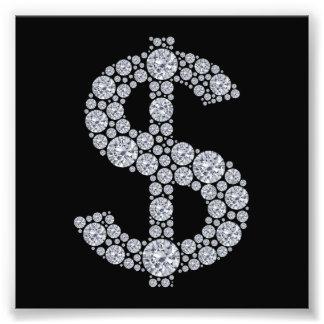 Diamant-Dollar-Zeichen Bling