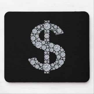 Diamant-Dollar-Zeichen Bling Mousepad