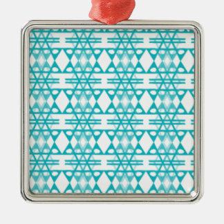 Diamant-Eis Silbernes Ornament