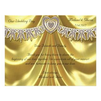 Diamant Fleurette u. Satin-Gold 21,6 X 27,9 Cm Flyer