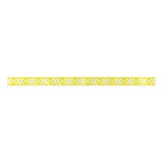 Diamant-Gitter-Gelb-Entwurf Satinband