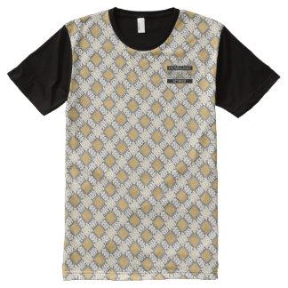 Diamant-Goldpolka-Punkt-Designer-moderner T - T-Shirt Mit Bedruckbarer Vorderseite