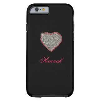 Diamant-Herz grafischer kundenspezifischer iPhone Tough iPhone 6 Hülle