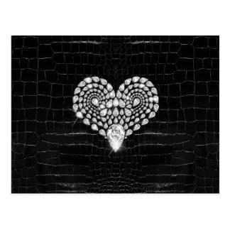 Diamant-Herz Postkarte