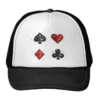 Diamant-Herz-und Spaten-Spieler-Kappen-Hut Retromützen