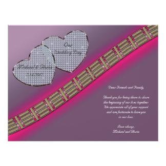 Diamant-Herzen Lavendel und Rosa 21,6 X 27,9 Cm Flyer