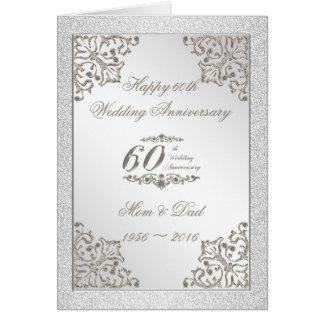 Diamant-Hochzeits-Jahrestags-Karte des Glitter-60. Karte
