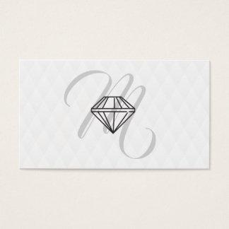Diamant-Ikone/Monogramm/Plüsch-Diamant-Muster Visitenkarte