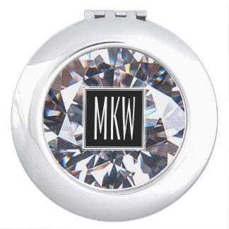 Diamant-Klassen-Monogramm Schminkspiegel