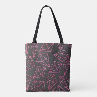 Diamant-Leben-schwarzes und rotes Muster Tasche