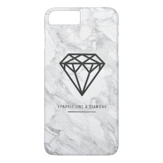 Diamant mit Marmor iPhone 8 Plus/7 Plus Hülle