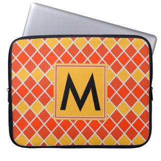 Diamant-Muster #80 mit Monogramm Laptop Sleeve