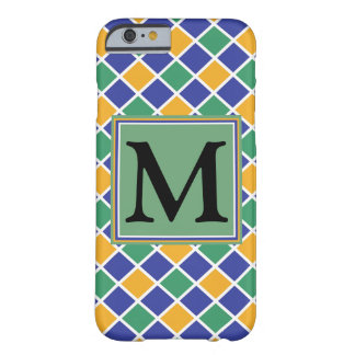 Diamant-Muster #86 mit Monogramm Barely There iPhone 6 Hülle