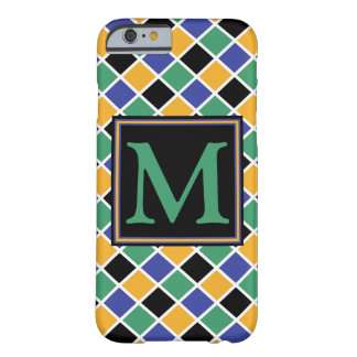 Diamant-Muster #88 mit Monogramm Barely There iPhone 6 Hülle