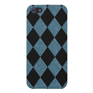 Diamant-Muster-Blaue und schwarze Hülle Fürs iPhone 5