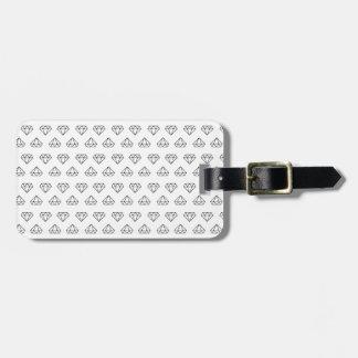 Diamant-Muster-Gepäckanhänger Kofferanhänger